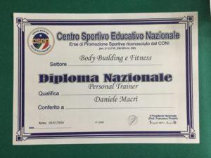 Diploma nazionale di personal trainer