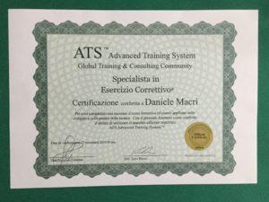 Diploma di specialista nell'esercizio correttivo
