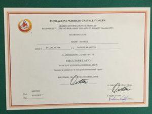 Diploma BLSD di Primo Soccorso